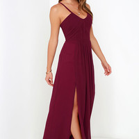 Bariano Test of Time Burgundy Maxi Dress