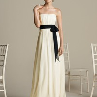 Sheath / Column Strapless Belt Sleeveless Ankle-length Chiffon Bridesmaid Dresses / Prom Dresses / Evening Dresses @adress208 | $129.00 | Maryswill.com.