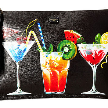 Dolce & Gabbana Leather Cocktail Pouch