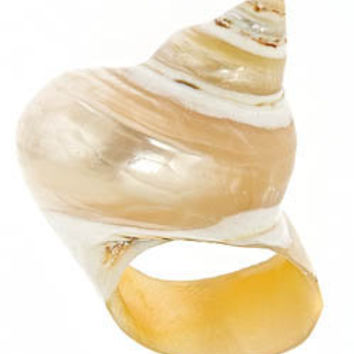 Mali Sabatasso Opalescent Shell Ring - Max and Chloe