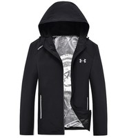Under Armour Fashion Men Long Sleece Sweater Shirt Black Coat