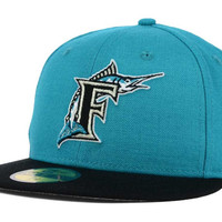 Florida Marlins MLB Logo Lush 59FIFTY Cap