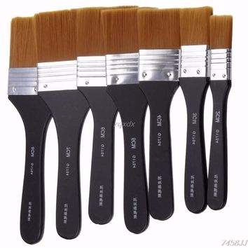 7 Pc. Flat Tip Oil Painting Brushes