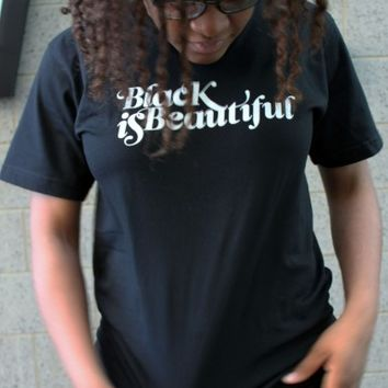 Black Is Beautiful T-shirt (Black) | The Studio Museum in Harlem
