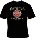 firefighter kick ash t shirt great gift t shirts firefighters rescue engine