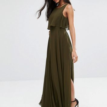 Fame and Partners 2 in 1 Maxi Dress with Thigh Split at asos.com