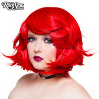 "RockStar Wigs®  Hologram 12"" - Jem Red - 00659"