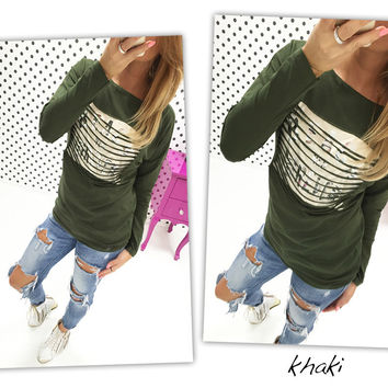 Green Sequined Long Sleeve Cardigan