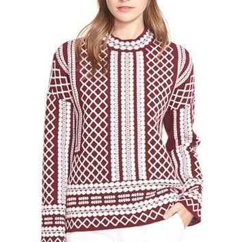 Women's Tory Burch Merino Jacquard Sweater,