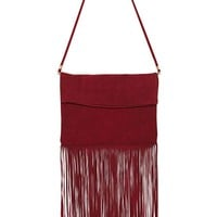 Due West Suede Fringe Bag
