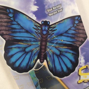 "XKites 27"" Nylon Butterfly Kite- Blue Morpho Butterfly"