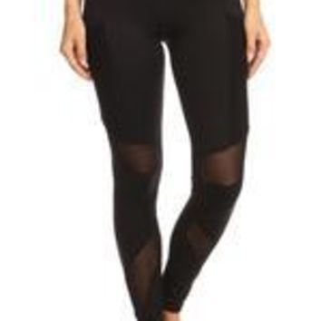 LL High Quality Mesh Insert Legging