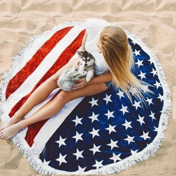 CAMMITEVER American Flag towel