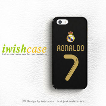 Real Madrid Ronaldo Cr7 Jersey iPhone 5 5S 5C Case Cover
