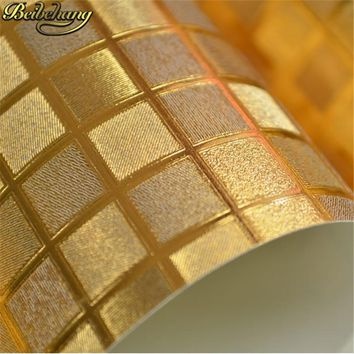 beibehang rose gold Kitchen wall paper PVC mosaic roll waterproof 3d stickers wallpapers for bathroom home decoration wall paper