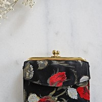 Vintage 1960s Rose Bud + Coin Purse