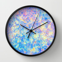 Watercolor Paisley Wall Clock by Jan4insight