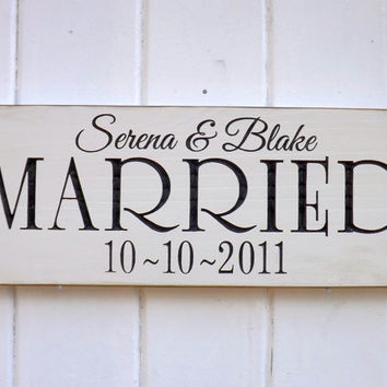 Custom Married Date Sign Carved Wood Sign