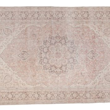 6x10 Distressed Oushak Carpet