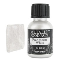 White Pearlescent Edible Paint RD