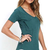 Z Supply Pleasant Surprise Teal Tee
