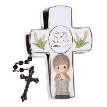 Precious Moments Blessings On Your First Holy Communion Boy Box