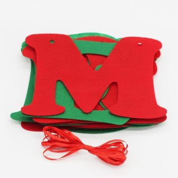 Christmas Decoration Home Bunting Banner Garland Props 14pc