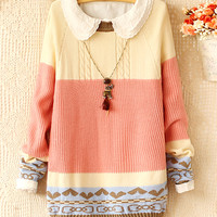 Love spell color bow pullover JCFBA