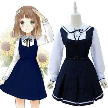 CREY6F Japanese Fashion Sailor Suit Cosplay Costumes School Uniform Women Party Fancy Maid Dress
