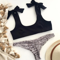 Hot Swimsuit Summer Beach New Arrival Swimwear Ladies Leopard Sexy Bikini [11423621263]