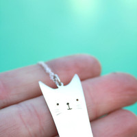 hello kitty pendant cat necklace sterling silver cat cartoon jewelry anime inspired