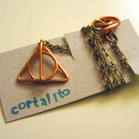 Deathly Hallows Inspired Necklace Small Size Harry by Cortalito