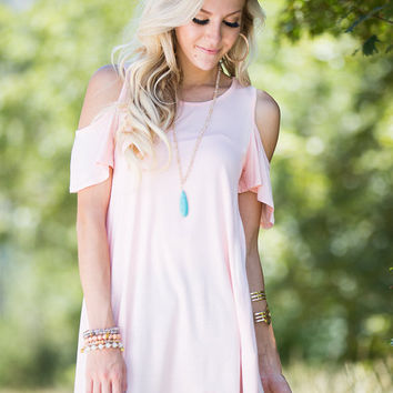 Lovin' Lately Open Shoulder Top Peach