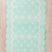Urban Outfitters - Plum & Bow Scalloped Eyelet Rug