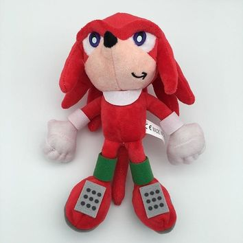 """Free Shipping 8"""" Ultimate Flash Sonic Anime The Hedgehog Knuckles the Echidna 20cm Stuffed Plush Soft Toy Figure Doll Toys Gift"""