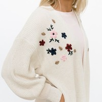 Everson Embroidered Cardigan | Called To Surf
