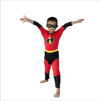 Kids The Incredibles Costume Halloween Costume For Boy Party Cosplay Costume Toddler T-Shirt+Pants Clothing Set 3-7Years