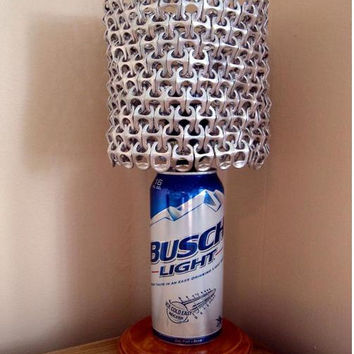 Busch Light Beer Can Lamp With Pull Tab Lampshade - The Mancave Essential