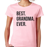 Light Pink Best Grandma Ever Crewneck Tee