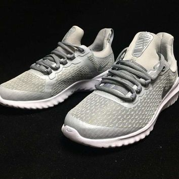 HCXX N337 Nike Air Zoom Renew Rival 2E React Flyknit Light Running Shoes Grey