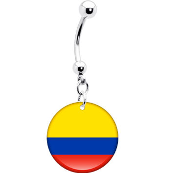 Colombia Flag Belly Ring | Body Candy Body Jewelry