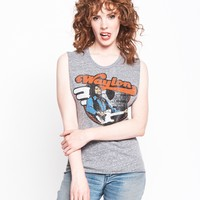 Flying W Guitar Muscle Tee - Heather Grey