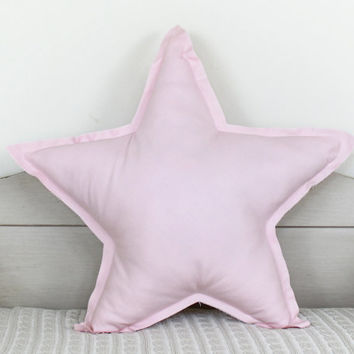 Star shaped Pillow or cushion - light pink, soft cotton