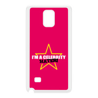 Celebrity Hater White Hard Plastic Case for Galaxy Note 4 by Chargrilled