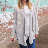 Draped in Lace Cardigan {Ivory+Grey}