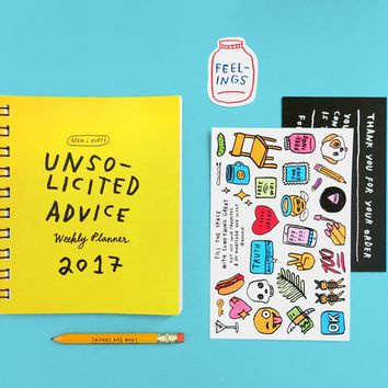 Unsolicited Advice: 2017 Weekly Planner