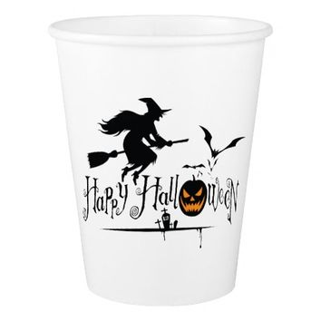 9 oz. HAPPY HALLOWEEN PAPER WHITE CUP