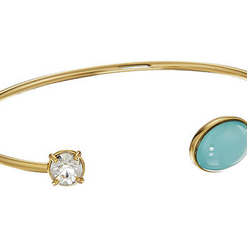 Rebecca Minkoff Pearl and Crystal Baby Cuff Bracelet Gold/Crystal Glass/Blue Milky Stone - Zappos.com Free Shipping BOTH Ways