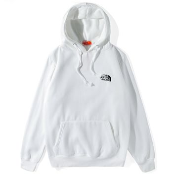 The North Face Tide brand men's and women's loose wild hooded hoodie White