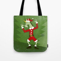Santa Unicorn In the House Tote Bag by thatssounicorny